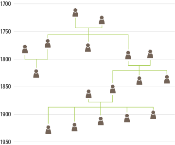 timeline family tree