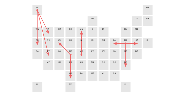 Chart Combinations: Tile Grid Maps - Dataviz Catalogue Blog