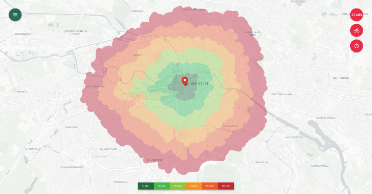 isochrone maps